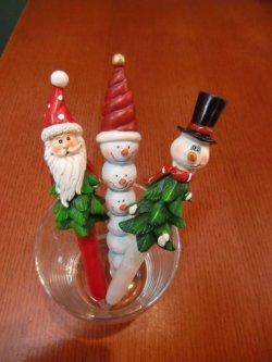 画像1: クリスマス ボールペン