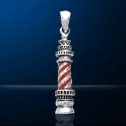 画像1: ペンダントトップ  灯台 赤白3