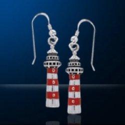 画像1: ピアス 灯台 赤白